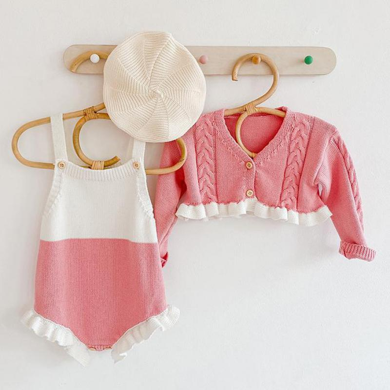 Short Knit Cardigan Coat and Bodysuit for Baby & Toddler Girl