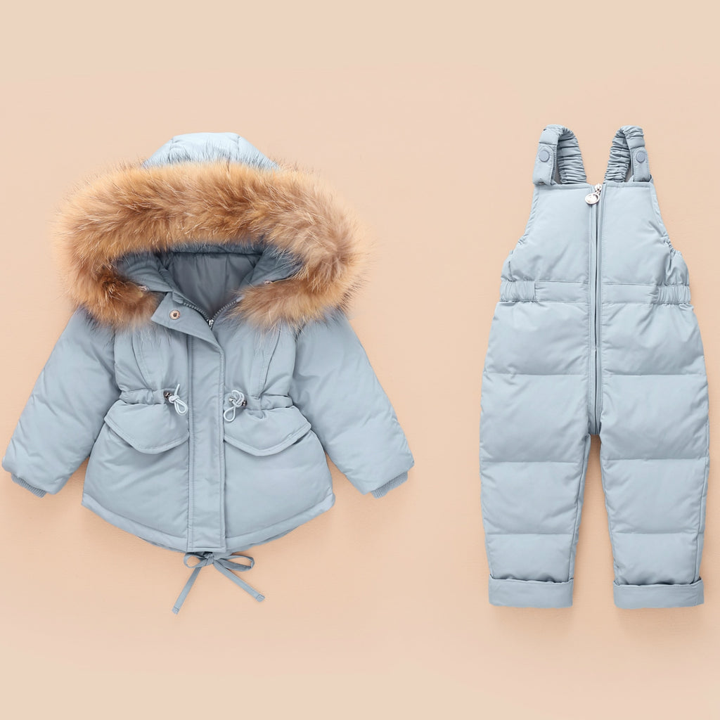 Snowsuit with Bib Trousers & Fur hoody for Toddler Girl