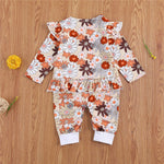 Long Sleeve Autumn Floral Romper For Newborn & Baby Girl