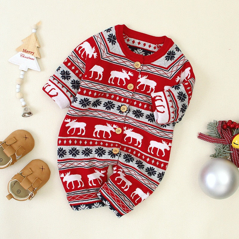 Christmas themed Romper For Baby & Toddler