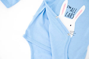 Full Sleeve Kimono Blue BodySuit - I'm all ears