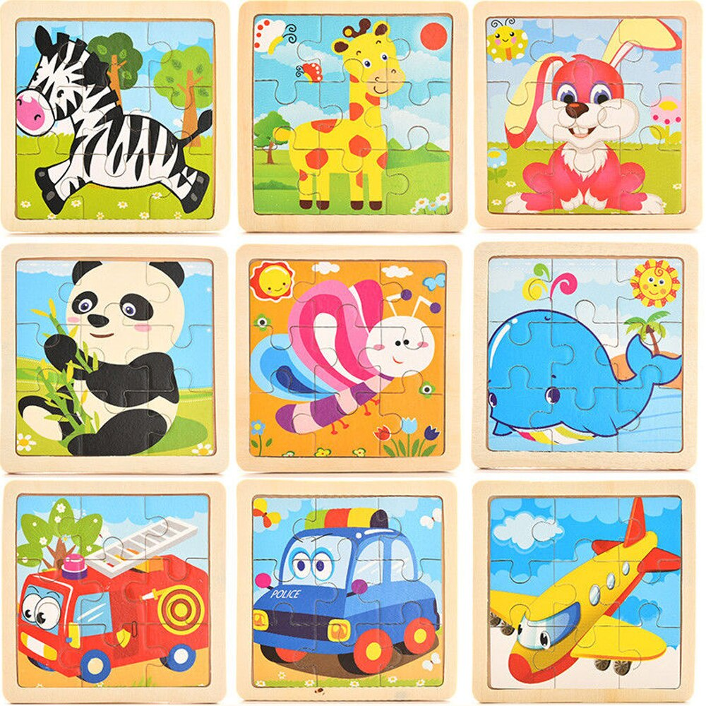 Wooden Mini Puzzles For Kids