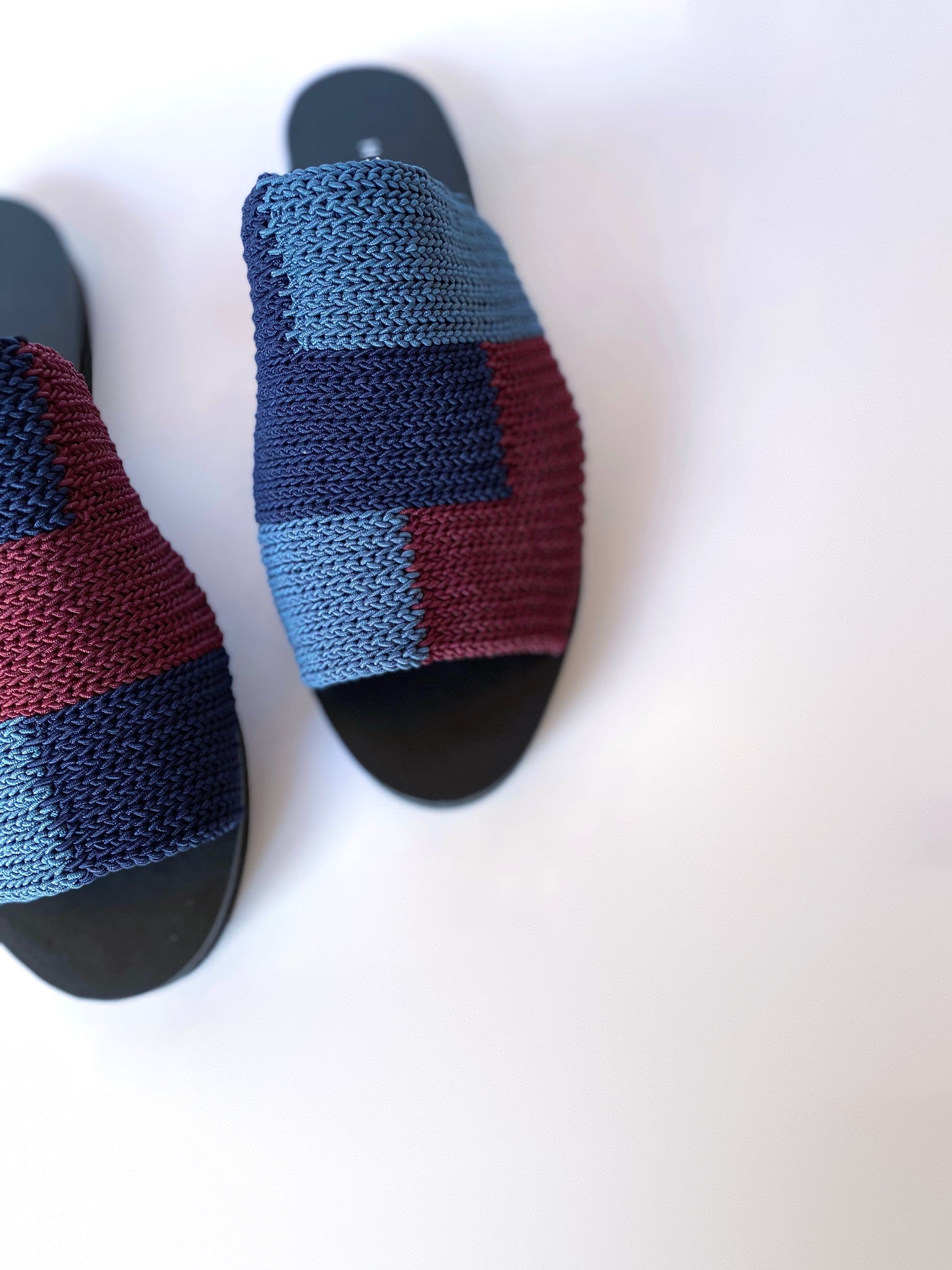 COLORBLOCK SANDALS/navy