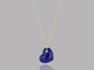 Load image into Gallery viewer, Lapis Stone Heart Pendant