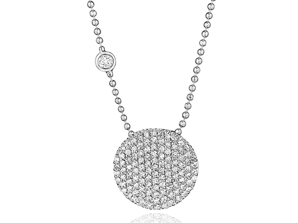 Bezel-Set Diamond Infinity Necklace