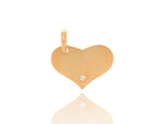 Yellow Gold Heart with Diamond