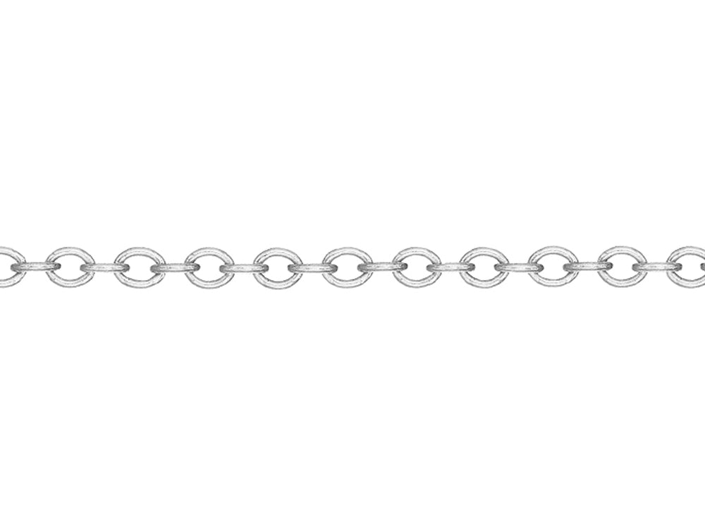 White gold 2mm rollo chain