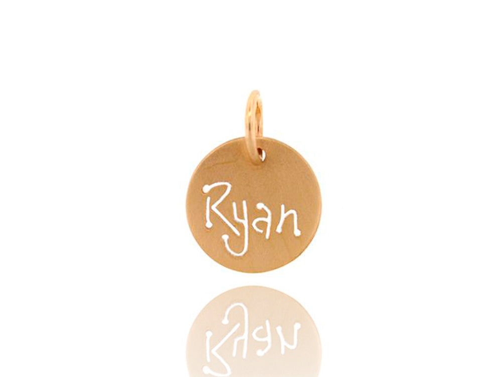 Yellow Gold Carved Tag