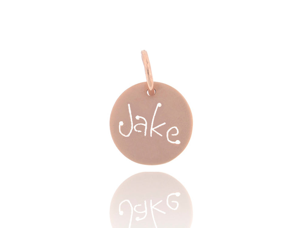 Rose Gold Carved Tag