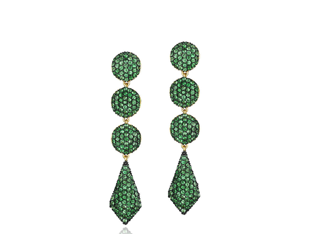 Contrast Four Drop Earrings