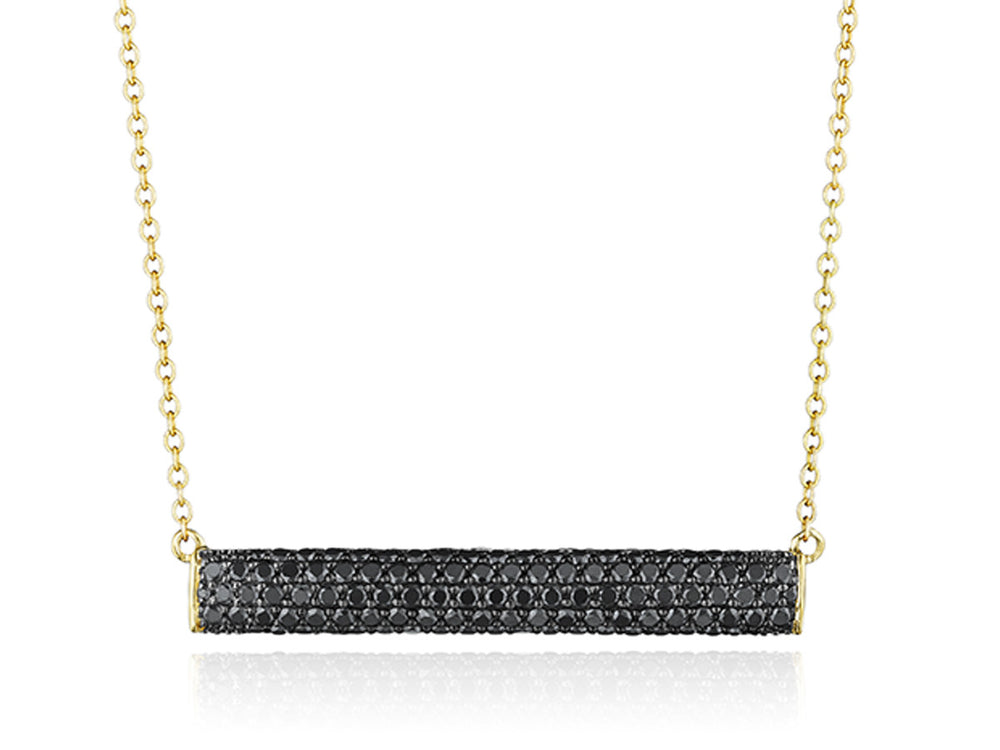 Contrast East-West Necklace