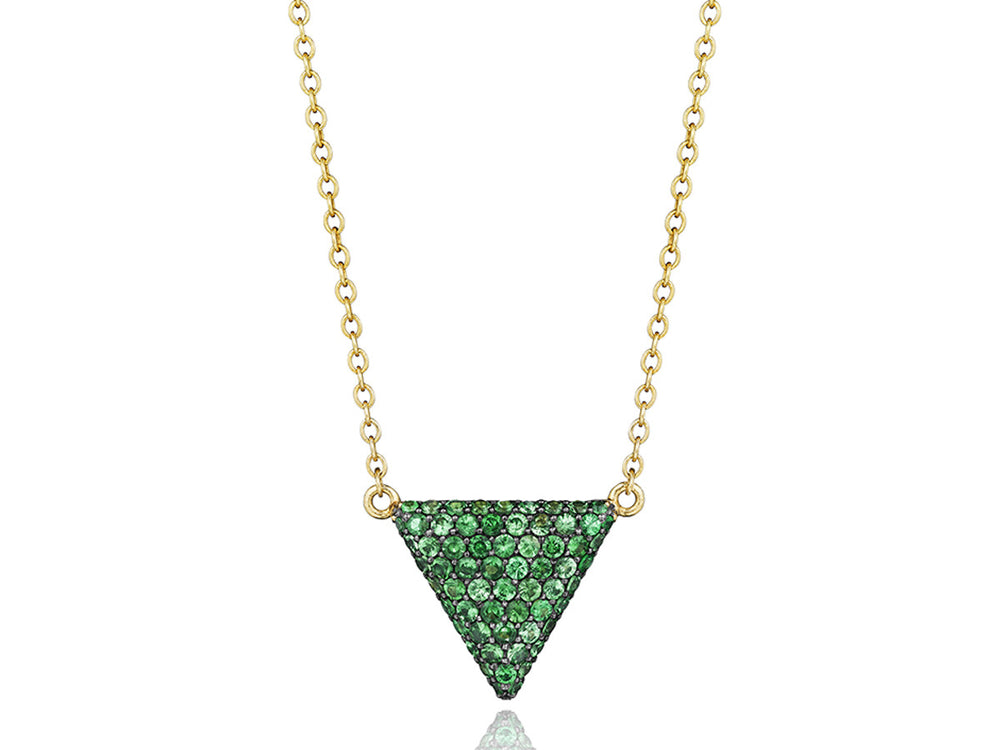 Contrast Triangle Necklace