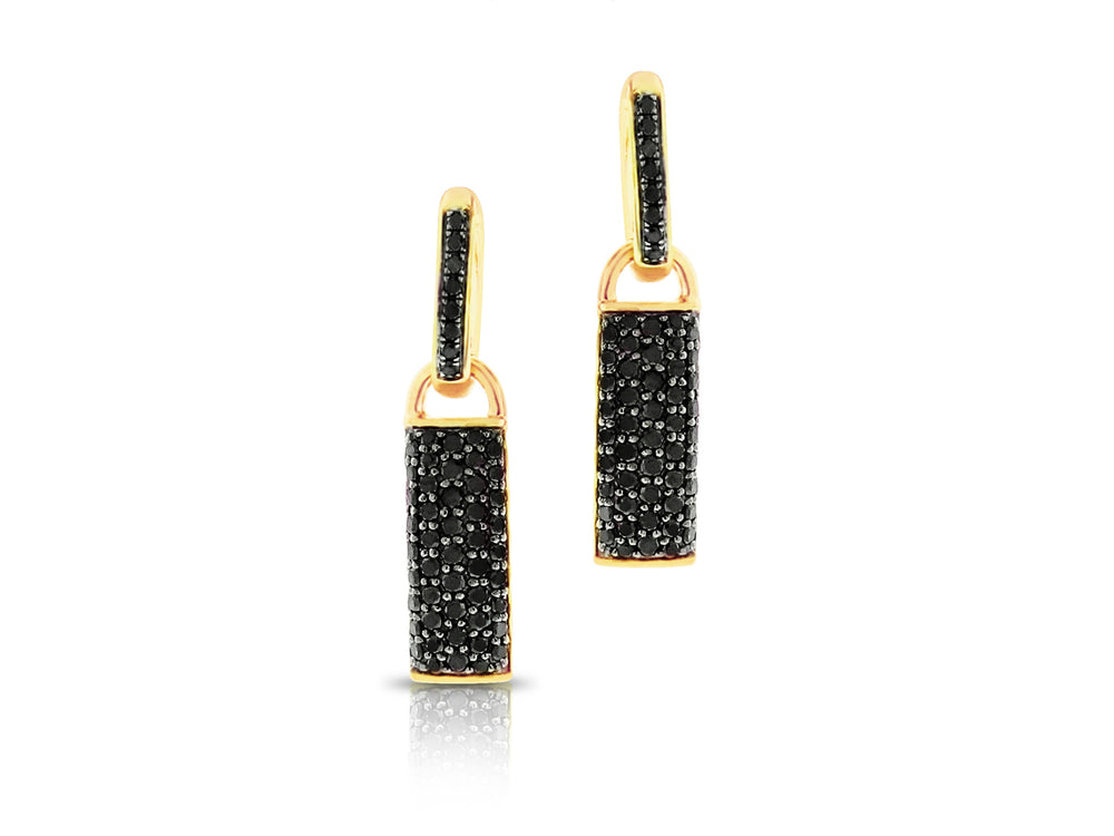 Contrast Bar Huggie Earrings