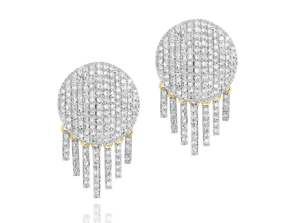 Infinity Fringe Stud Earrings