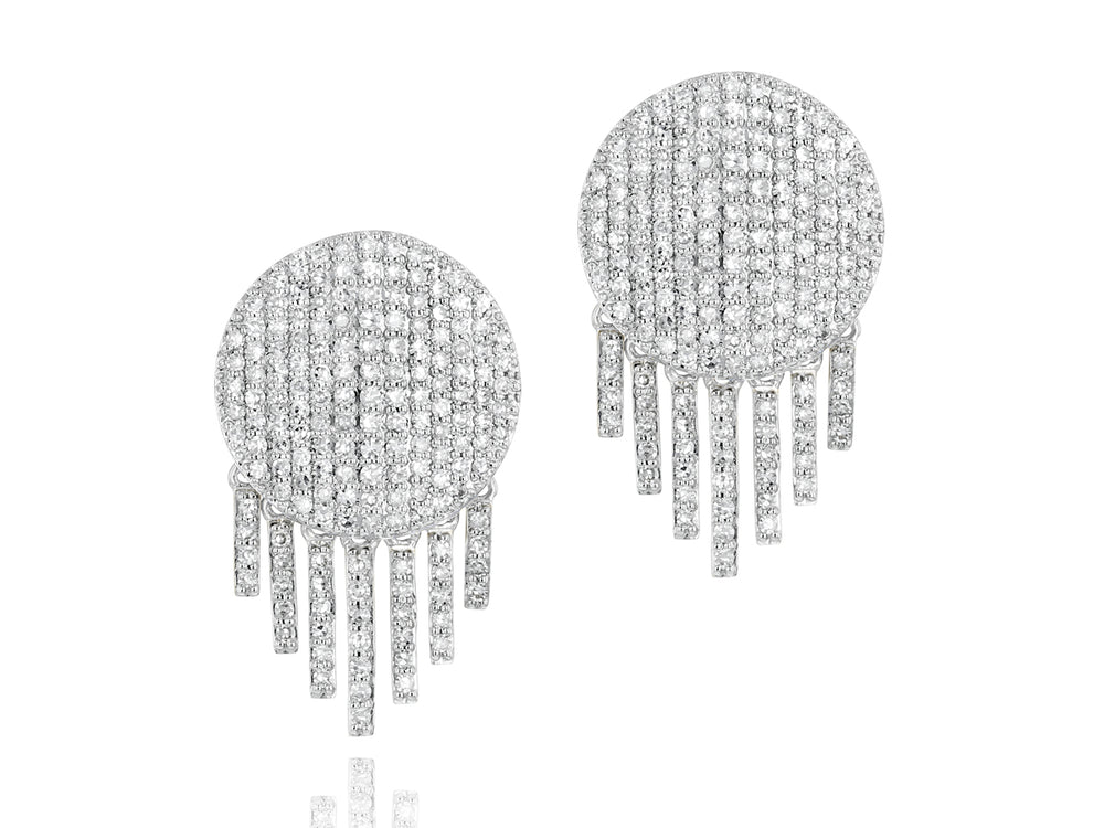 Load image into Gallery viewer, Infinity Fringe Stud Earrings