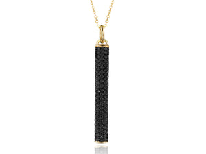 Contrast Long Bar Drop Necklace