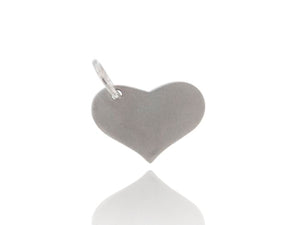 White Gold Heart Tag