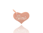 Rose Gold Heart Tag
