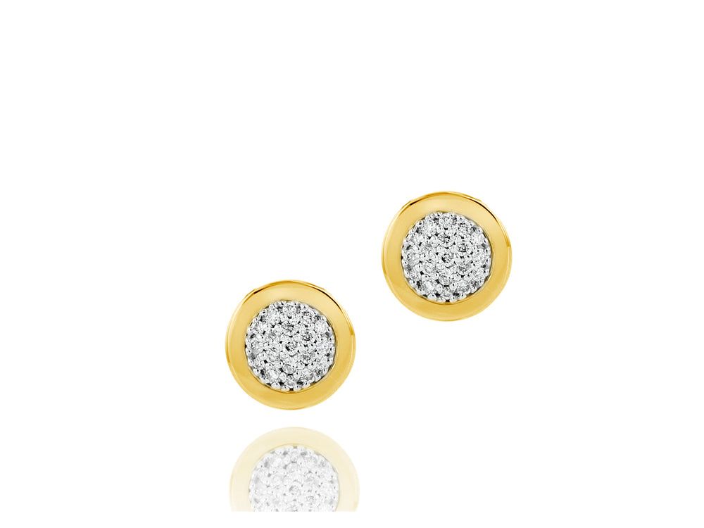 Micro Infinity Plate Stud Earrings