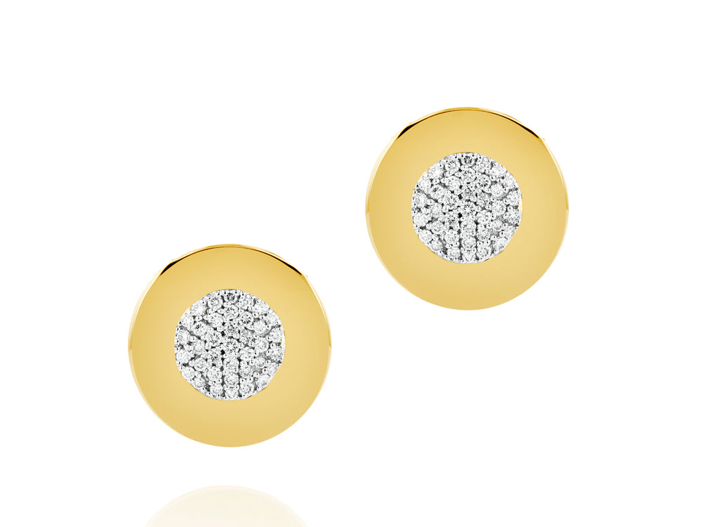 Load image into Gallery viewer, Infinity Plate Stud Earrings