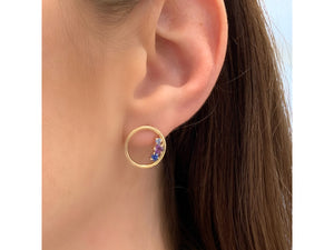 Dusk Enchanted Loop Stud Earrings