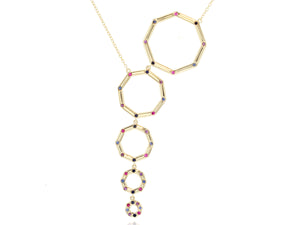 Load image into Gallery viewer, Graduated Hero Dusk Corner Necklace