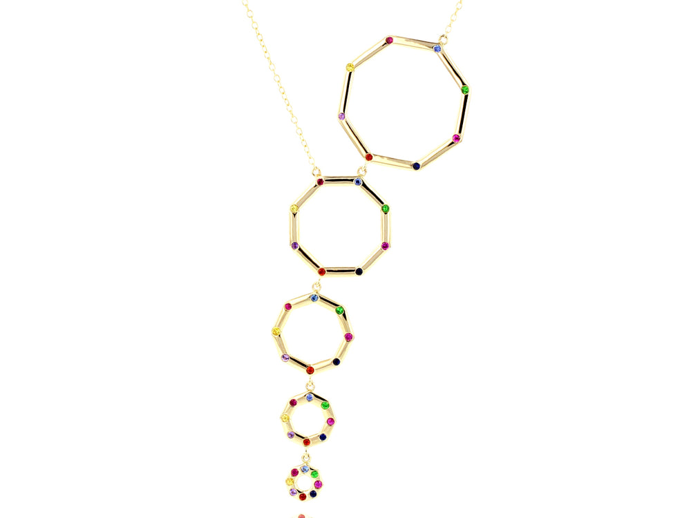 Graduated Hero Rainbow Corner Necklace
