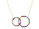 Interlocking Rainbow Hero Necklace