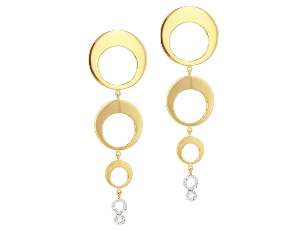 Graduated Crescent Drop Earrings