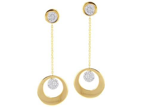 Infinity Crescent Stud Top Dangling Earrings
