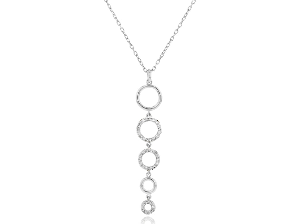 Graduated Open Circle Necklace