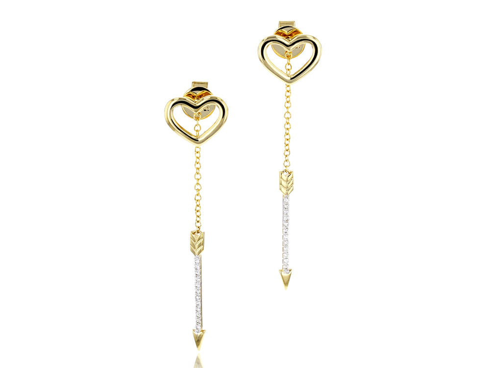 Heart and Arrow Earrings