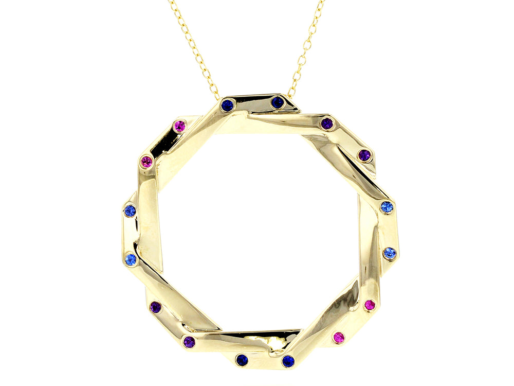 Hero Dusk Interlocking Corner Necklace