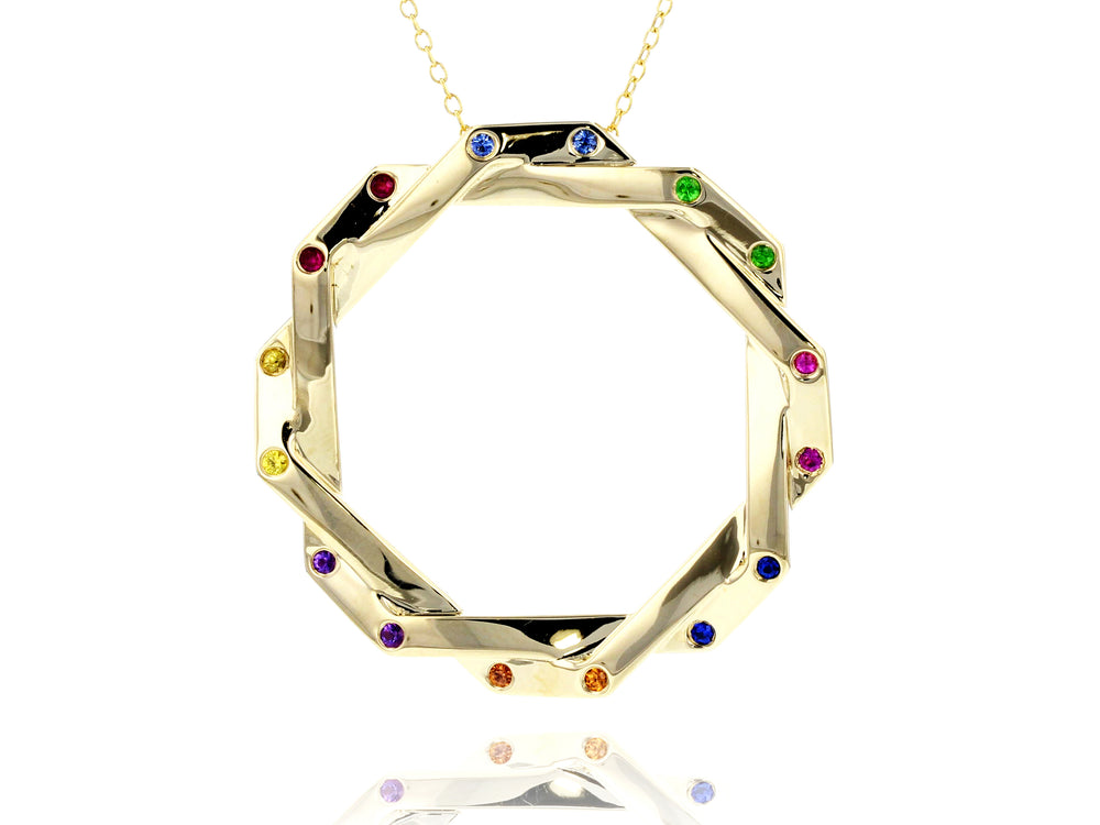 Rainbow Hero Corner Interlocking Necklace