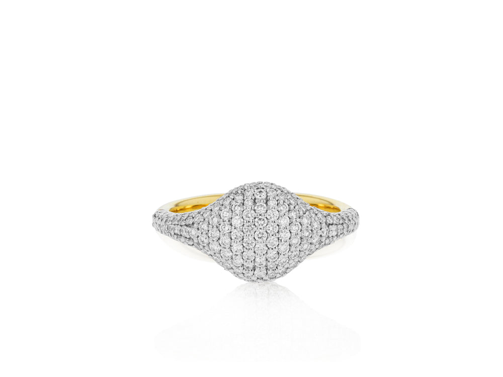 Affair Pave Signet Ring