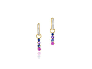 Dusk Enchanted Huggie Drop Earrings