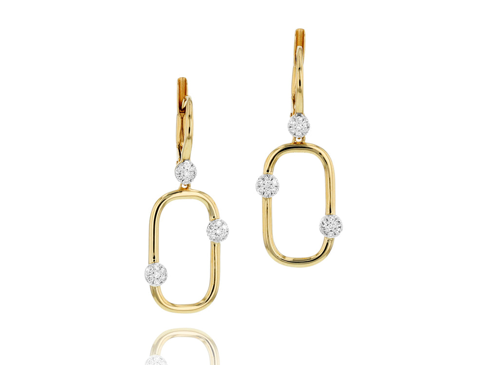 Link Leverback Earrings