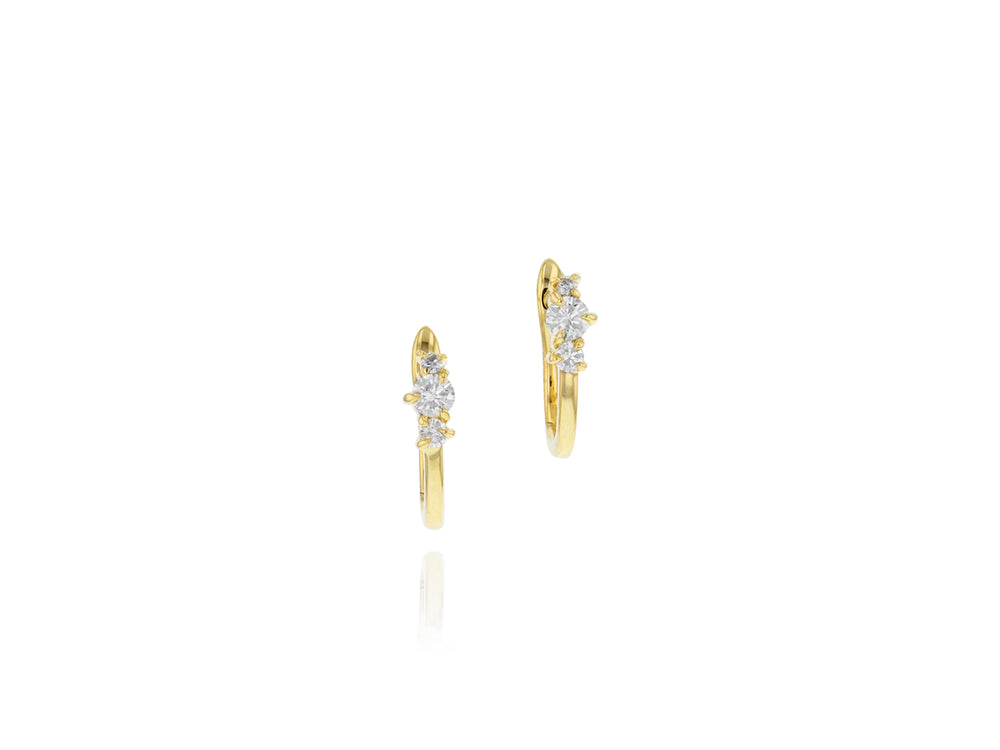Enchanted Petite Huggie Earrings