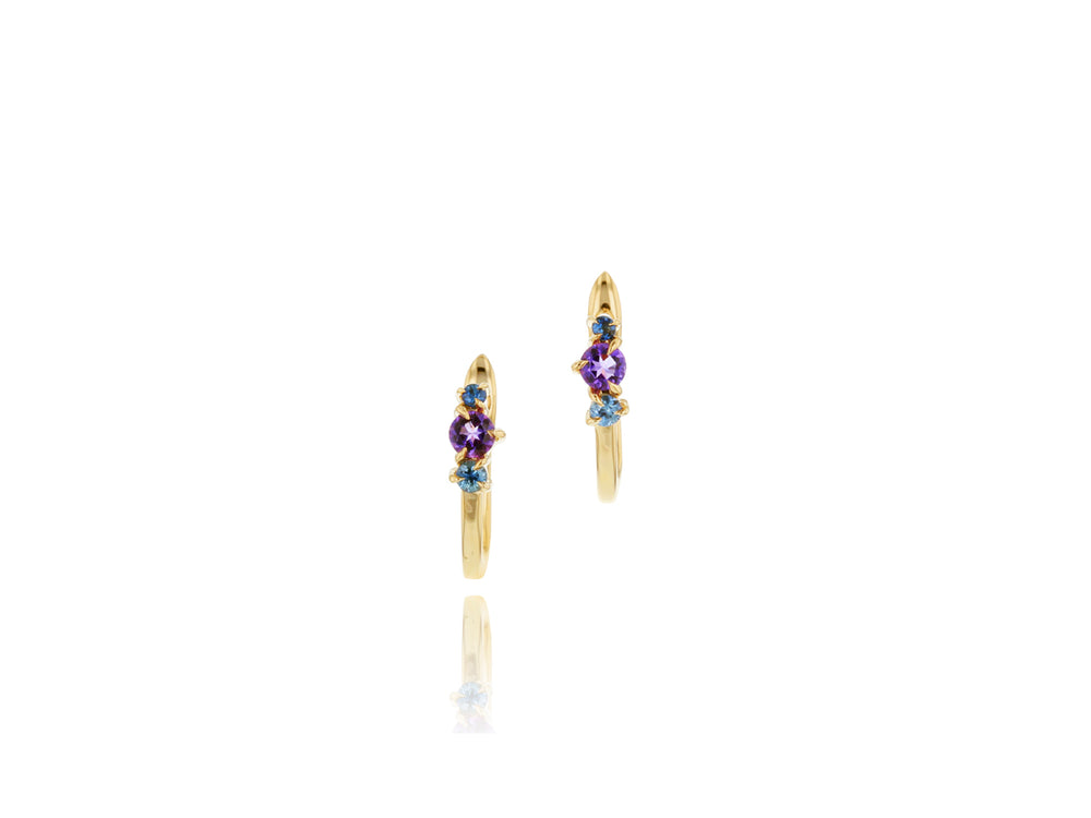 Load image into Gallery viewer, Dusk Enchanted Petite Huggie Earrings