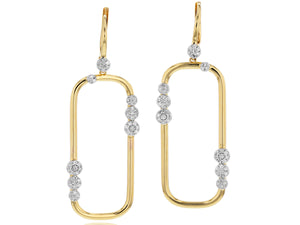 Link Long Leverback Earrings
