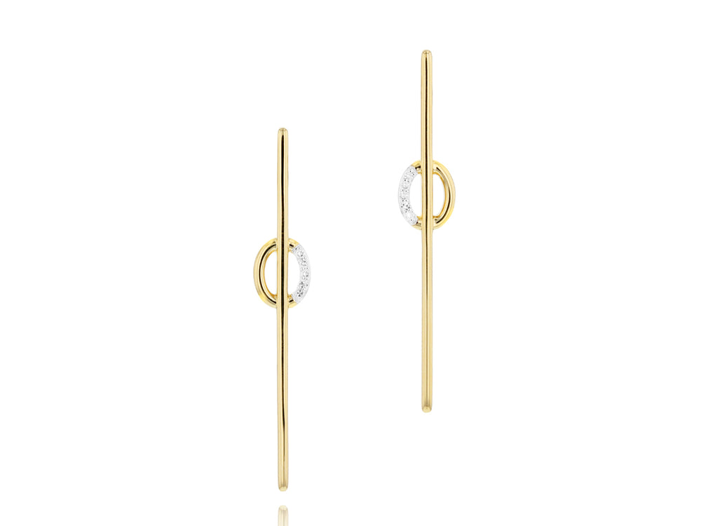 Mini Link Long Stud Earrings