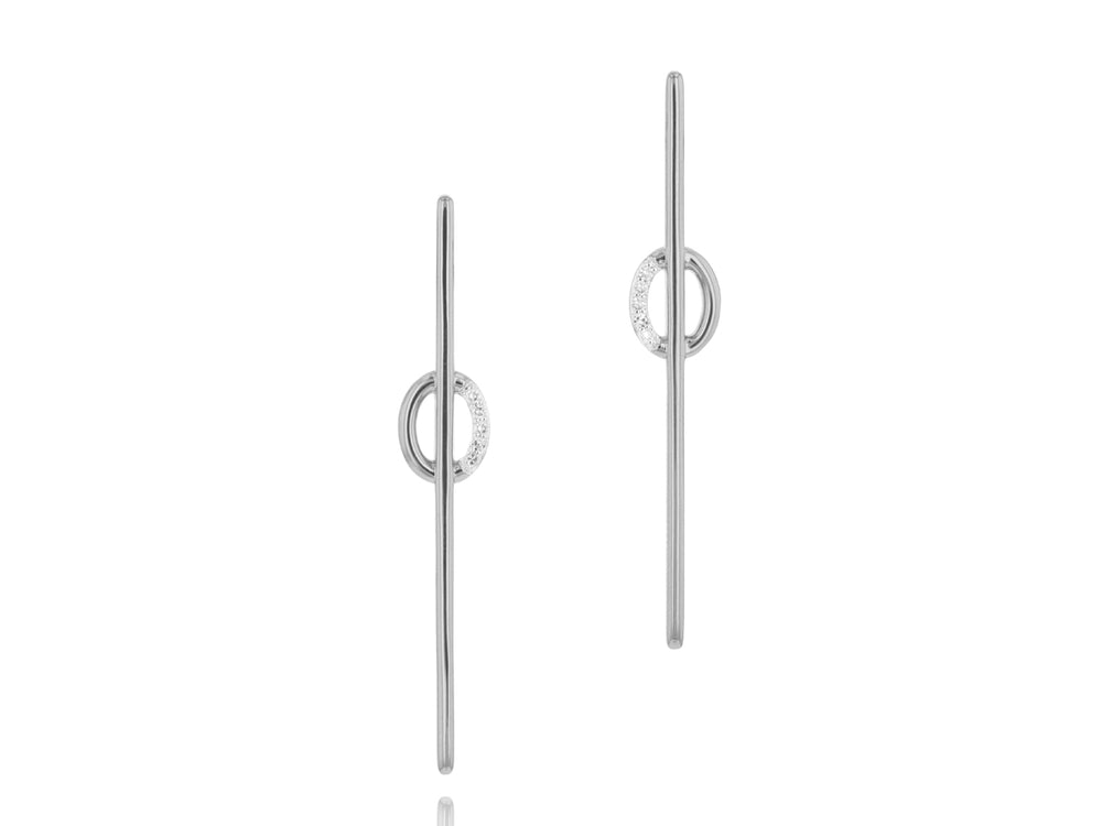 Load image into Gallery viewer, Mini Link Long Stud Earrings