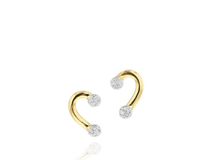 Mini 1/2 Heart Infinity Stud Earrings