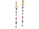Dusk Enchanted Long Drop Huggie Earrings