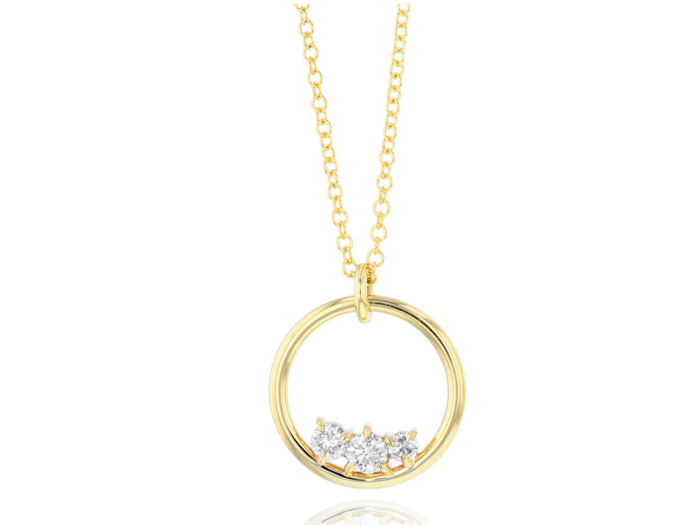 Enchanted Gold Loop Necklace