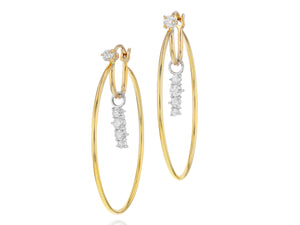 Load image into Gallery viewer, Enchanted Drop Hoop Earrings