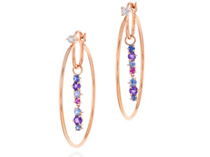 Dusk Enchanted Drop Hoop Earrings