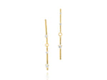 Enchanted Double Bar Drop Earrings