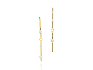 Load image into Gallery viewer, Enchanted Double Bar Drop Earrings