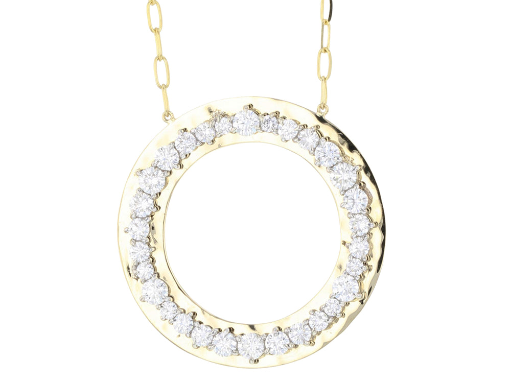 Enchanted Large Hammered Loop Necklace